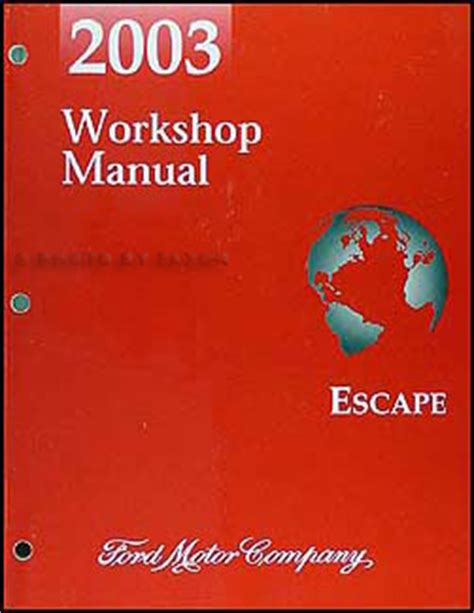 car repair manual download 2003 ford escape electronic throttle control 2003 ford escape repair shop manual original