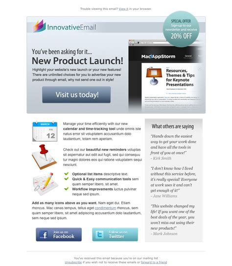 innovative product tour html email template by index2