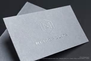metallic ink business cards metallic ink
