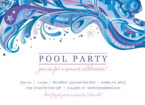 blue and purple swirl pool invite template
