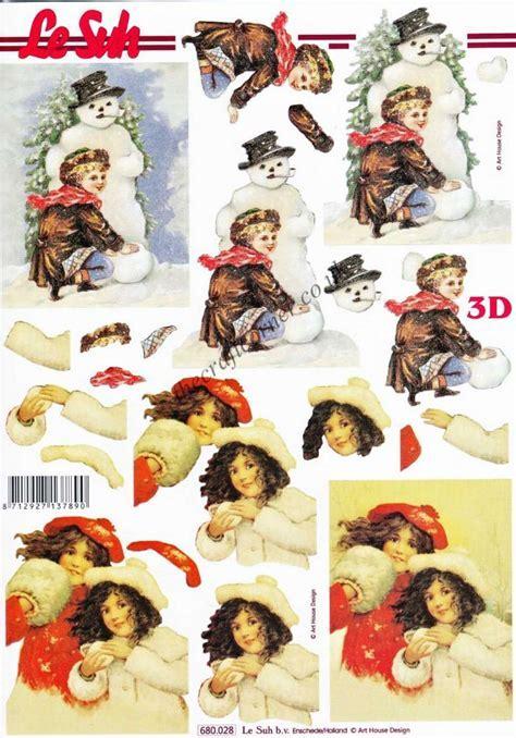 Christmas Victorian Children Die Cut 3d Decoupage Sheet