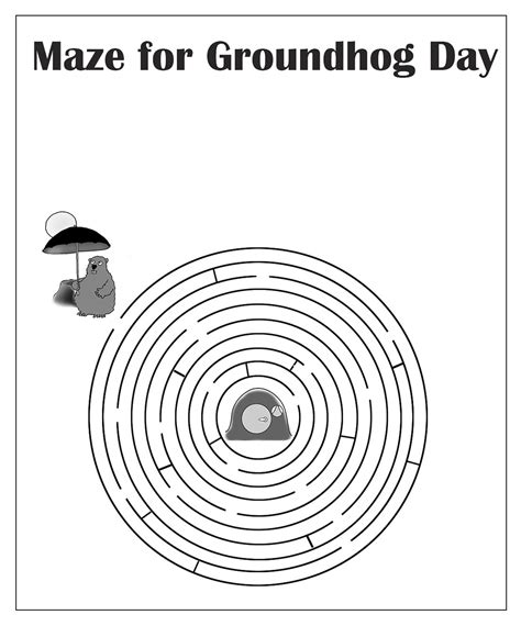 groundhog day one day groundhog day clipart
