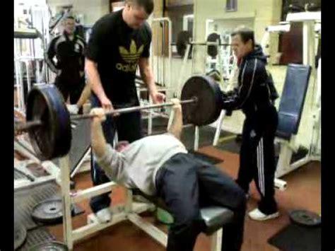 kane irish powerlifter 140kg 315lb bench press x2 reps