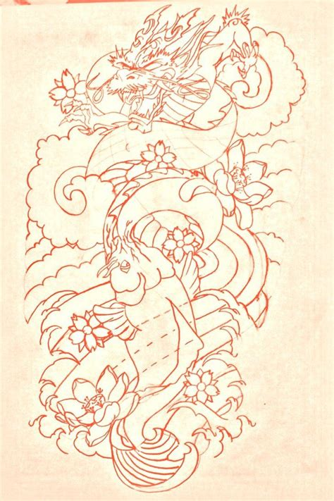 koi dragon sleeve tattoo designs best 20 koi ideas on
