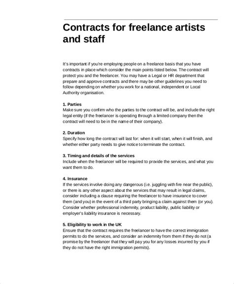 freelance contract templates word