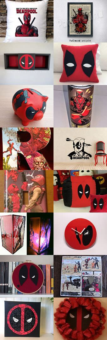 Deadpool Bedroom by Deadpool Home Decor By Fischer On Etsy