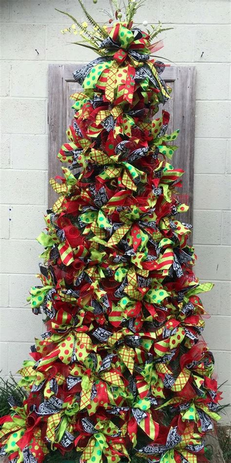 8 1 2 lighted tripod christmas tree red lime green and a