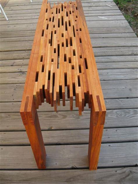 mahogany bench diy mahogany pallet bench 101 pallets