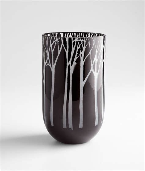 Black Glass Vase by Medium Forest Black Glass Vase By Cyan Design