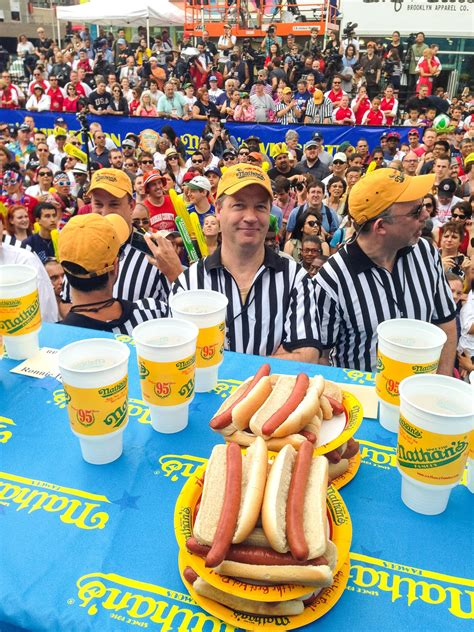 nathans famous hot dog eating contest life list 206 compete at the nathan s famous july fourth