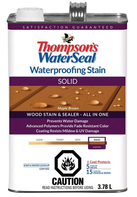 thompsons waterseal wp stain solid maple brown