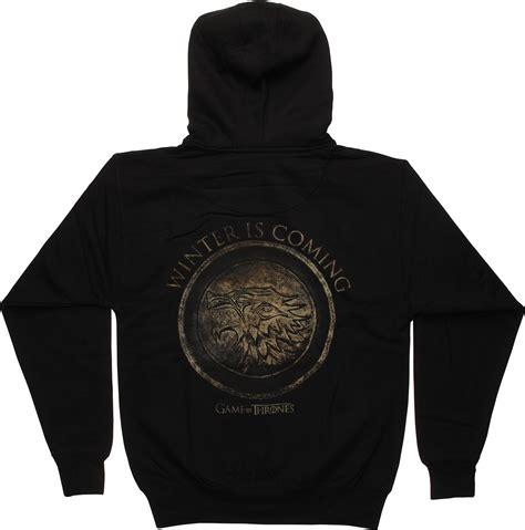 Jaket Hoodie Zipper Winter Is Coming Of Thrones Of Thrones Stark Logo Winter Is Coming Hoodie