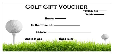 golf gift card template 11 free gift voucher templates microsoft word templates