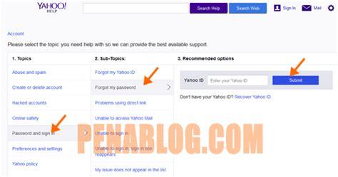 email yahoo tidak muncul cara reset password email yahoo tanpa no hp dan email