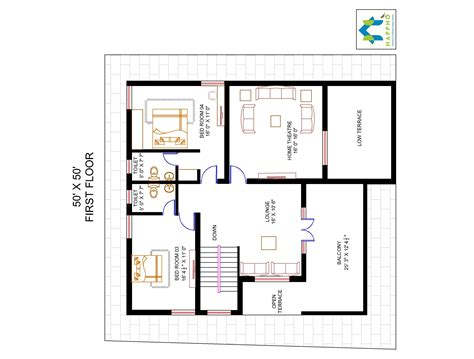 50 square feet 4 bhk floor plan for 50 x 50 plot 2500 square feet 278