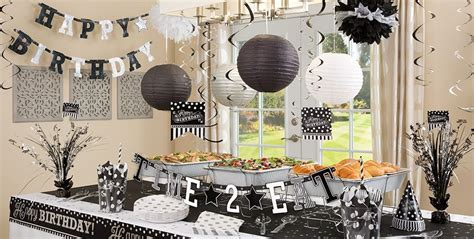 black and white themed decorations black white birthday supplies city