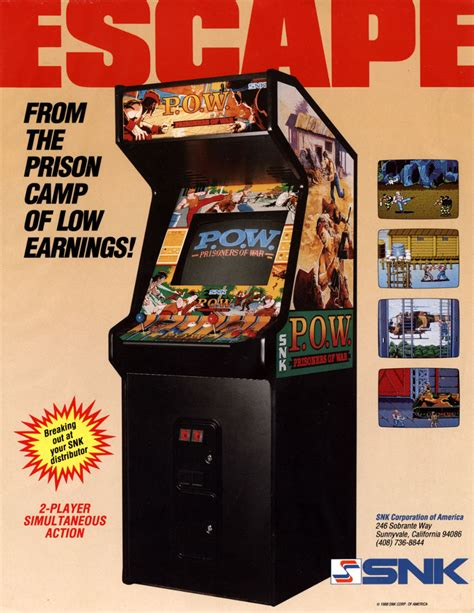 the arcade flyer archive game flyers p o w