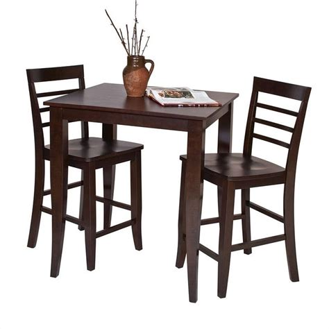 Espresso Bar Table Pub Table In Espresso Finish Jt432