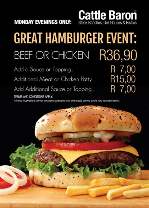 restaurant specials cattle baron steak ranch specials mr cape town