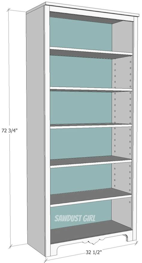 how to build a bookcase with adjustable shelves free plans to build a tall bookshelf with adjustable