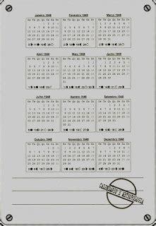 Calendario De 1948 Teixoso 1948 Efem 201 Rides