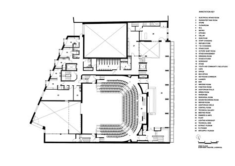 floor plan theatre everyman theatre haworth tompkins archdaily