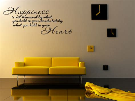 bedroom wall decor quotes happiness home bedroom decor vinyl wall quote art decal
