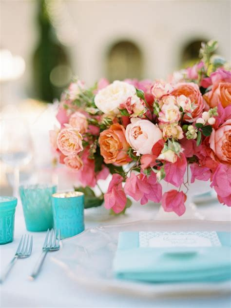 in full flower inspired 0847858693 carnival inspired wedding full of color ryan o neal coral centerpieces and carnival