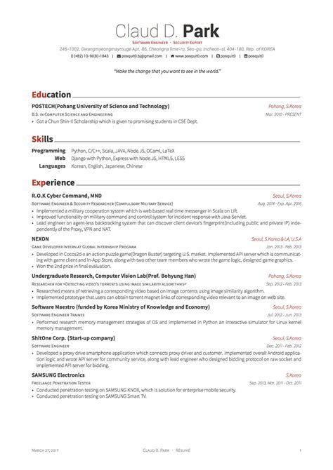 Latex Templates 187 Curricula Vitae R 233 Sum 233 S Resume And Cv Templates