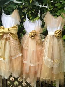 bridesmaid peach and gold shabby chic gown boho dress mix