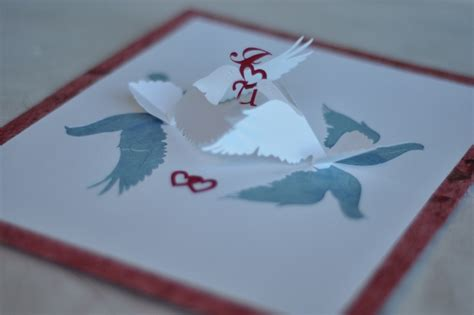 Pop Up Bird Card Template by Lovebirds Pop Up Card Template