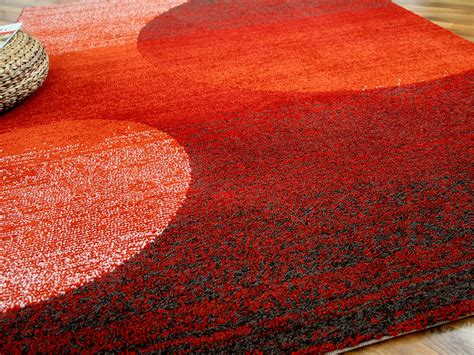 teppiche orange designer teppich softstar rot orange kreise teppiche