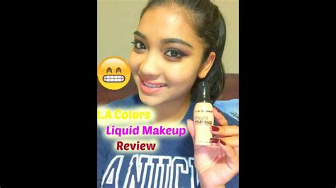 la colors makeup la colors liquid makeup foundation review