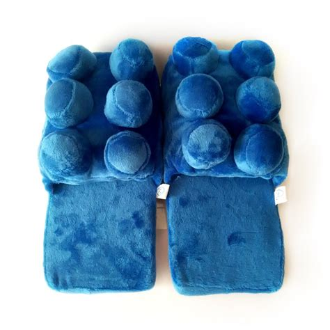 lego slippers uk building block slippers blue new arrival plush warm cozy