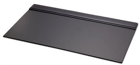 p1021 black leather 34in x 20in top rail desk pad