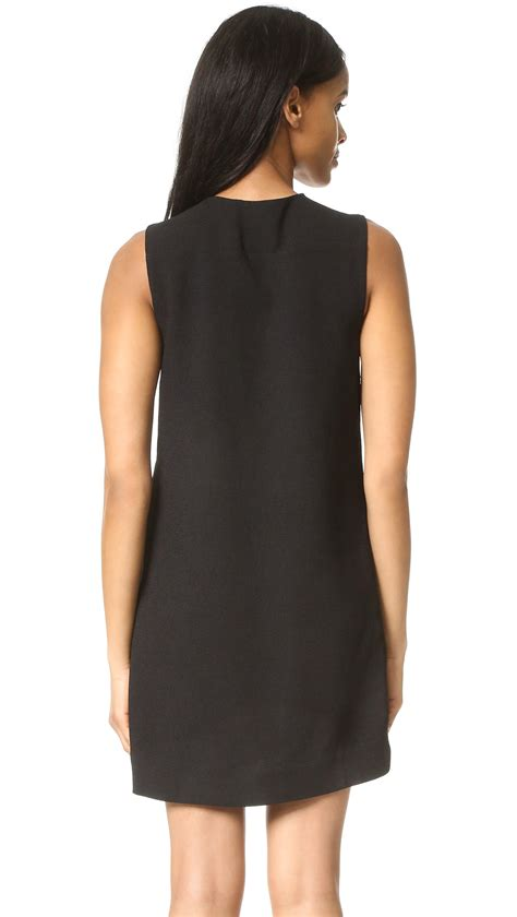 Factory Dress factory lace up front dress in black lyst