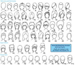 names of anime inspired hair styles various male anime manga hairstyles by elythe on deviantart