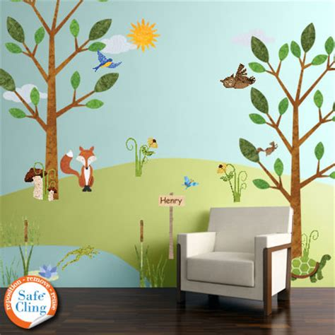 forest wall sticker forest friends wall sticker kit now available through my