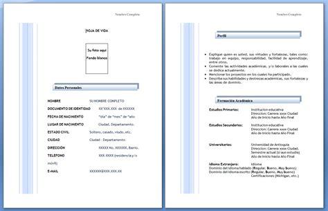 descargar formatos para hojas de vida gratis formato de hoja de vida 2012