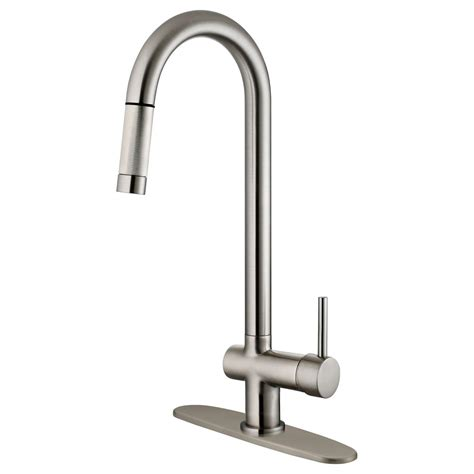Kitchen Faucets Nickel Finish Lk13b Brushed Nickel Finish Pull Out Kitchen Faucet