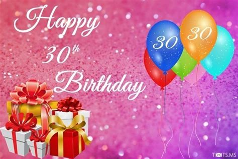 Happy Birthday 30th Wishes 30th Birthday Wishes Messages Quotes Images For