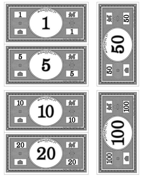 printable monopoly money template monopoly money search monopoly banquet