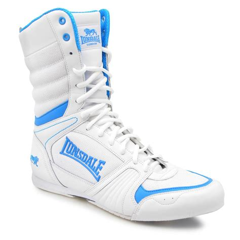 lonsdale cyclone boxing boots mens white blue trainers