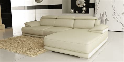 cream sectional sofa divani casa 6134 modern cream and white leather sectional sofa