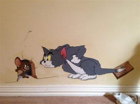 Tom and Jerry ? wall painting   90Kids.com   Childhood