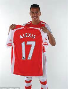alexis sanchez kit number alexis sanchez has risen from playing barefoot in a