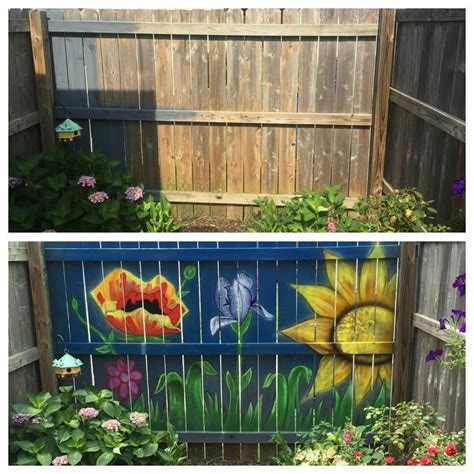 painting backyard fence 100 best fence painting murals images on pinterest fence