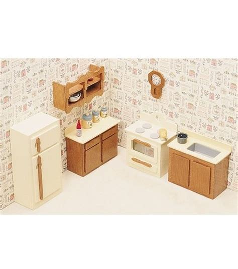 Greenleaf Dollhouse Furniture Kitchen Set Dollhouse Dolls House Kitchen Furniture