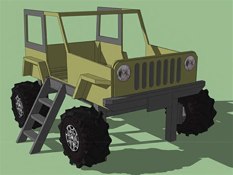 jeep bed in on the joys of building a jeep shaped kid s bed