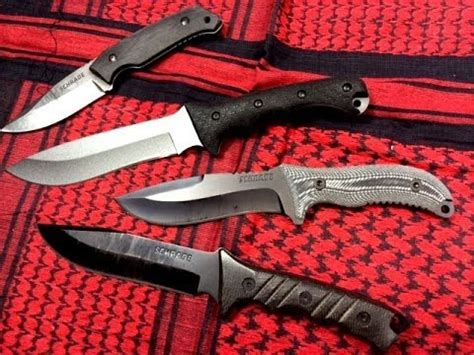 survival knife comparison schrade survival knife comparison
